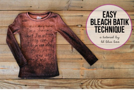 Easy Bleach Batik Technique via lilblueboo.com