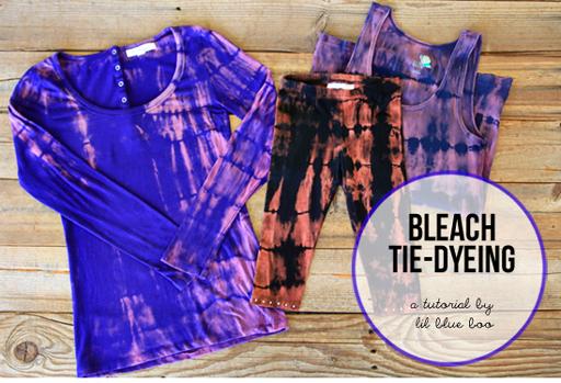 Bleach Tie-Dyeing via lilblueboo.com