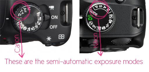 All About Photography Exposure Modes (Nikon and Canon Semi-Automatic Exposure Modes) by Gayle Vehar for lilblueboo.com