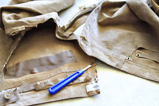 DIY Suede Fringe Bag (step 1) via lilblueboo.com