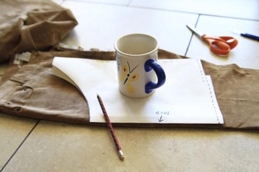 DIY Suede Fringe Bag (step 2) via lilblueboo.com