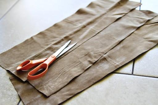 DIY Suede Fringe Bag (step 4) via lilblueboo.com