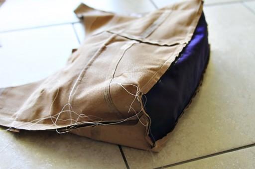 DIY Fringe Bag Tutorial (step 7) via lilblueboo.com