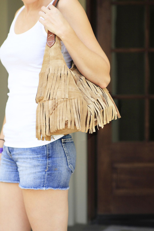 DIY Easy j.j. winters inspired Suede Fringe Handbag via lilblueboo.com