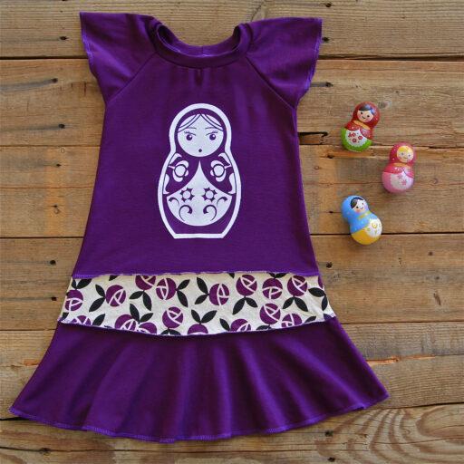 Purple Matryoshka Doll Layering Dress via lilblueboo.com