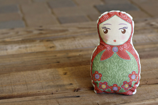 Make a Matryoshka t-shirt transfer doll via lilblueboo.com