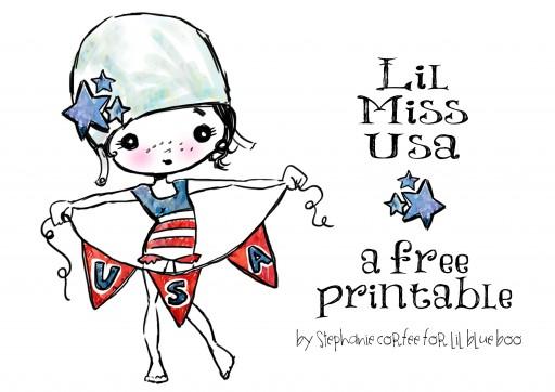 Lil Miss USA a free printable by Stephanie Corfee via lilblueboo.com