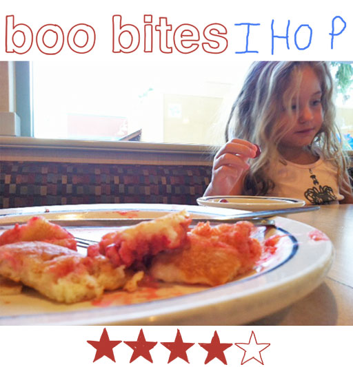 Boo Bites: International House of Pancakes via lilblueboo.com