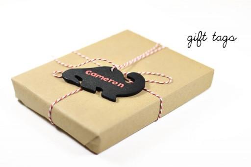 Chalkboard gift tags via lilblueboo.com