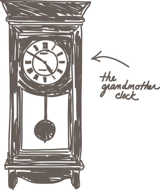 The Grandmother Clock via lilblueboo.com