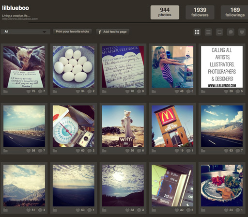 View Instagram Feed on Desktop via lilblueboo.com #statigram