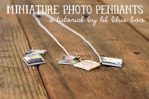how to make mini resit photo charms via lilblueboo.com