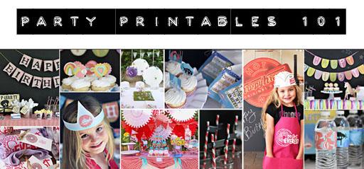 Party Printables 101 via lilblueboo.com