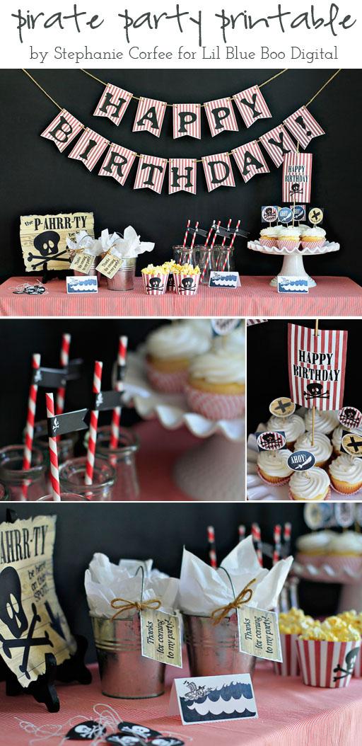 Pirate Party Printable by Stephanie Corfee via lilblueboo.com