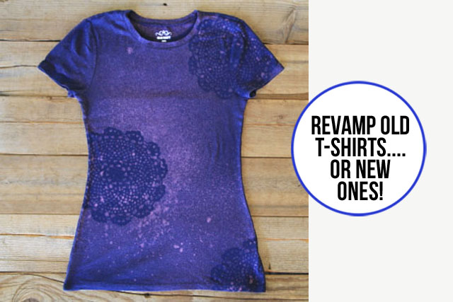 Stenciling with bleach for How to bleach designs into shirts