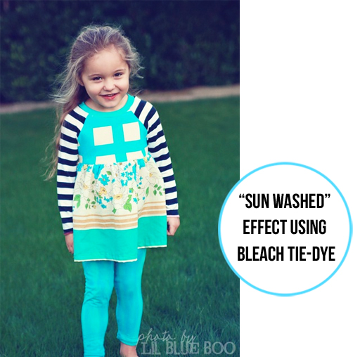 Tie Dye Clothing with Bleach (sun washed effect) via lilblueboo.com