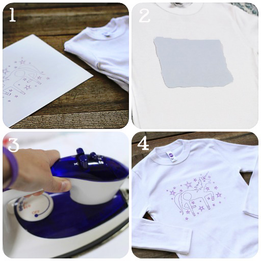 Party Printables: How to Make a T-Shirt Transfer via lilblueboo.com