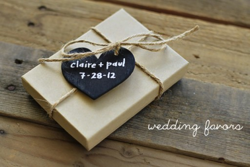 Chalkboard wedding favors via lilblueboo.com