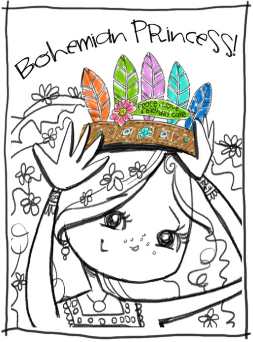 Bohemian Princess Crown by Stephanie Corfee via lilblueboo.com