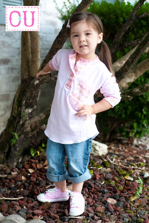 The Hipster Henley Instant Download PDF Sewing Pattern (Girl Version) via lilblueboo.com
