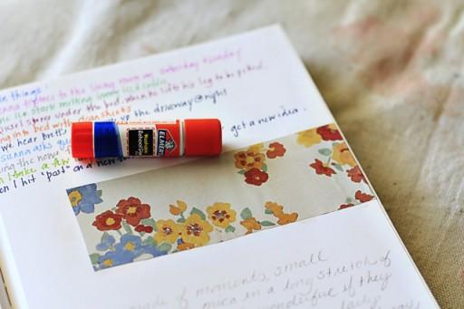 The Lil Journal Project Day 13 via lilblueboo.com (glue stick)