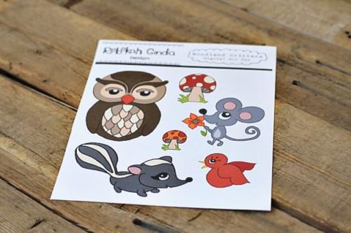 Woodland Creatures Layered Transfer Applique via lilblueboo.com