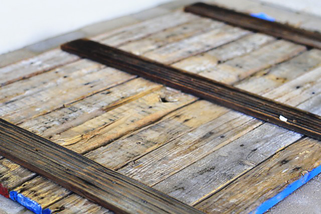 Back of the pallet wood via lilblueboo.com - DIY Reclaimed Wood American Flag