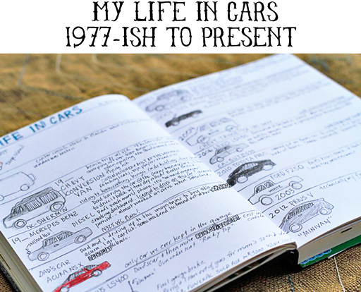 The Lil Journal Project | Day 7 (My Life in Cars) via lilblueboo.com #theliljournalproject