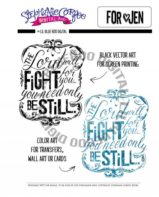 Be Still Digital Download via lilblueboo.com