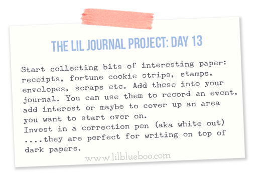 The Lil Journal Project Day 13 via lilblueboo.com