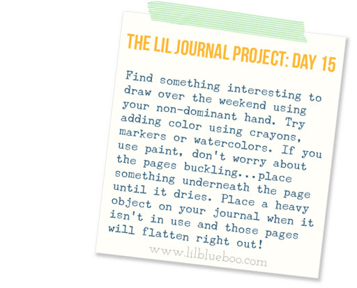 The Lil Journal Project Day 15 via lilblueboo.com