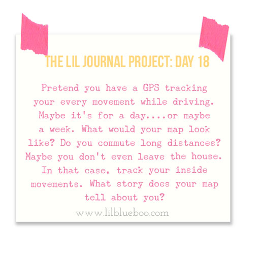 The Lil Journal Project Day 18 (GPS Map) via lilblueboo.com