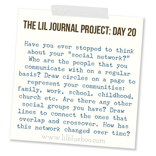 The Lil Journal Project Day 20 via lilblueboo.com