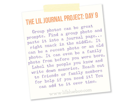 The Lil Journal Project Day 9 (Photo Memories) via lilblueboo.com