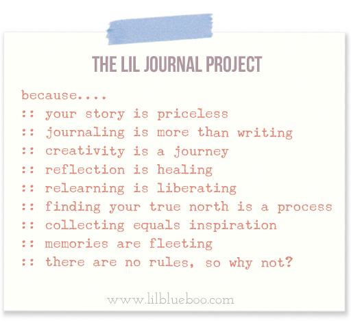 The Lil Journal Project via lilblueboo.com