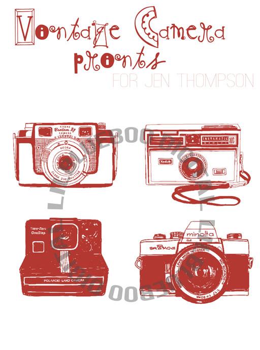 Shop for a Cause: Fundraiser for Jen Thompson (amistillagirl.com)  - Vintage Camera Prints via lilblueboo.com