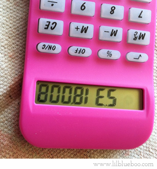 Remember when ....you first learned what 5318008 spelled on the calculator? That was awesome. via lilblueboo.com