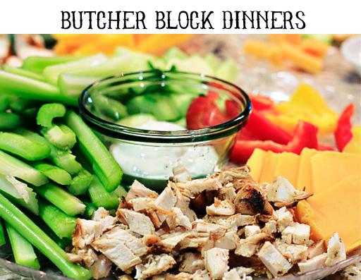 Butcher Block Dinners via lilblueboo.com
