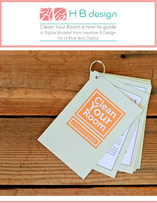 Help kids to clean their room with this how-to guide printable by HB Design via lilblueboo.com