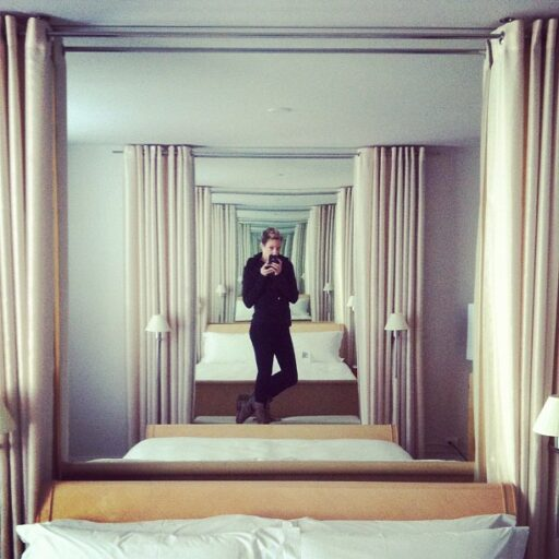 Clift hotel infinity mirror via lilblueboo.com