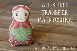 t-shirt transfer doll tutorial via lilblueboo.com