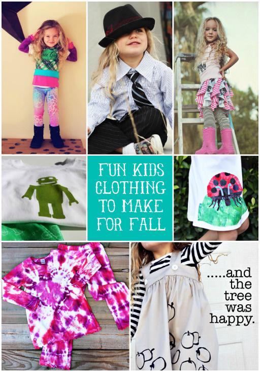 Fun Clothing to Make For Fall via lilblueboo.com