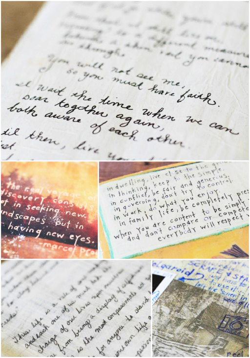The Lil Journal Project (handwriting samples) via lilblueboo.com