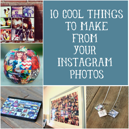 Get a head start on your holidayt gift making! 10 Cool Things to Make from Your Instagram Photos via lilblueboo.com