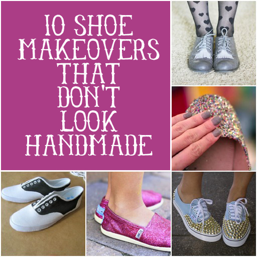 10 Shoes Makeovers That Don't Look Handmade via lilblueboo.com