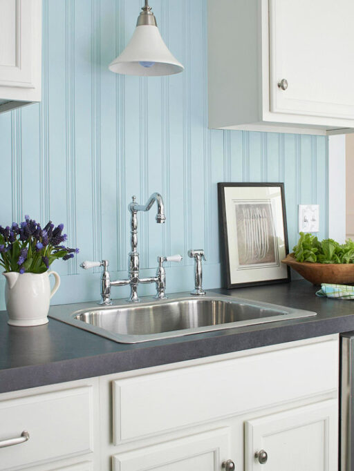 Budget friendly home renovation ideas: change the faucets via lilblueboo.com