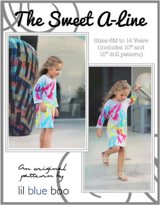 Upcycled Dress PDF A-Line Pattern via lilblueboo.com