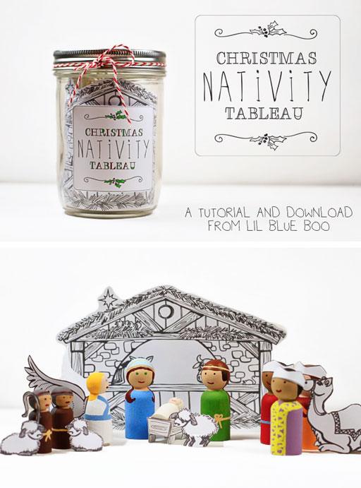 How to Make A Wooden DIY Nativity Peg Doll Set - Nativity Peg Doll Tutorial