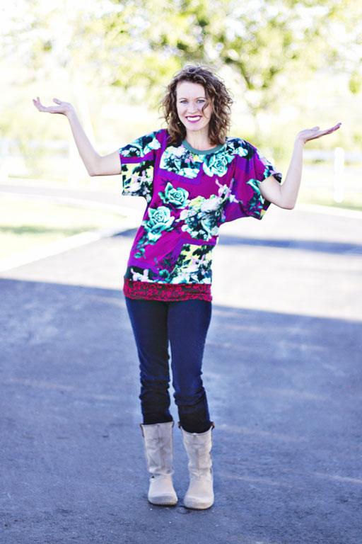 DIY Women's Knit Top Pattern via lilblueboo.com/shop