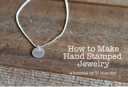 How to Stamp Jewelry via lilblueboo.com